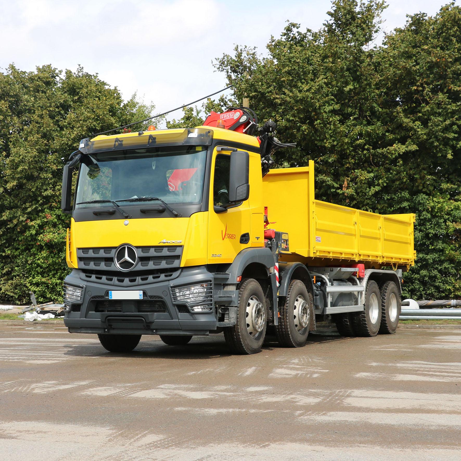 Camion grue 18t mercedes en543ns